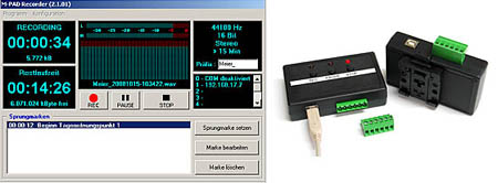 Fernsteuerbarer Audio-Recorder